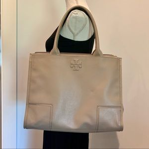Tory Burch leather travel/work Tote